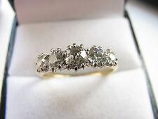 18ct Oro Amarillo Art Decó 5 diamantes 1.00 quilates Anillo Tamaño o US 7.25 3.2g encantador