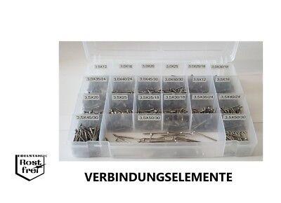 Spanplattenschrauben Set 1.000 Teile TORX Ø3,0-3,5 EDELSTAHL versandkostenfrei