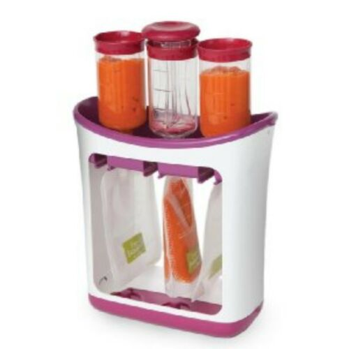 Infantino Fresh Squeeze Station Toddler Baby Food Maker 10 Storage Pouches New