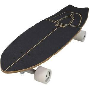 SKATEBOARD-Slim-STREET-SURF-SKATE-CRUISER-LONG-FREERIDE-79-cm-31-034-kick-tail-new