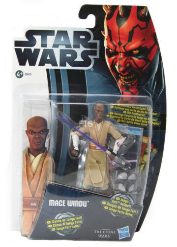 Star Wars The Clone Wars Mace Windu Movie Heroes Star Wars Hasbro c7-c9