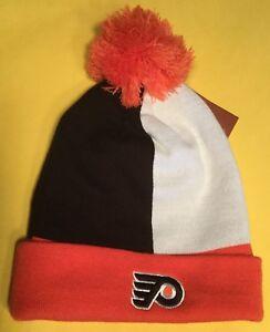b3bba4d17 Details about Philadelphia Flyers Mitchell & Ness NHL Cuffed Pom Pom Hat  Cap Beanie OSFM $25