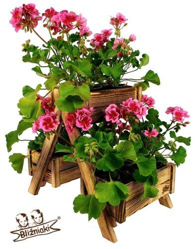 Bliźniaki# DKW34 OPAL  Kiefernholz Hochbeet Blumenbeet Pflanzkübel Blumentopf