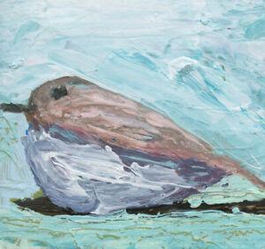 Mourning Dove Bird Animal Art Painting Katie Jeanne Wood