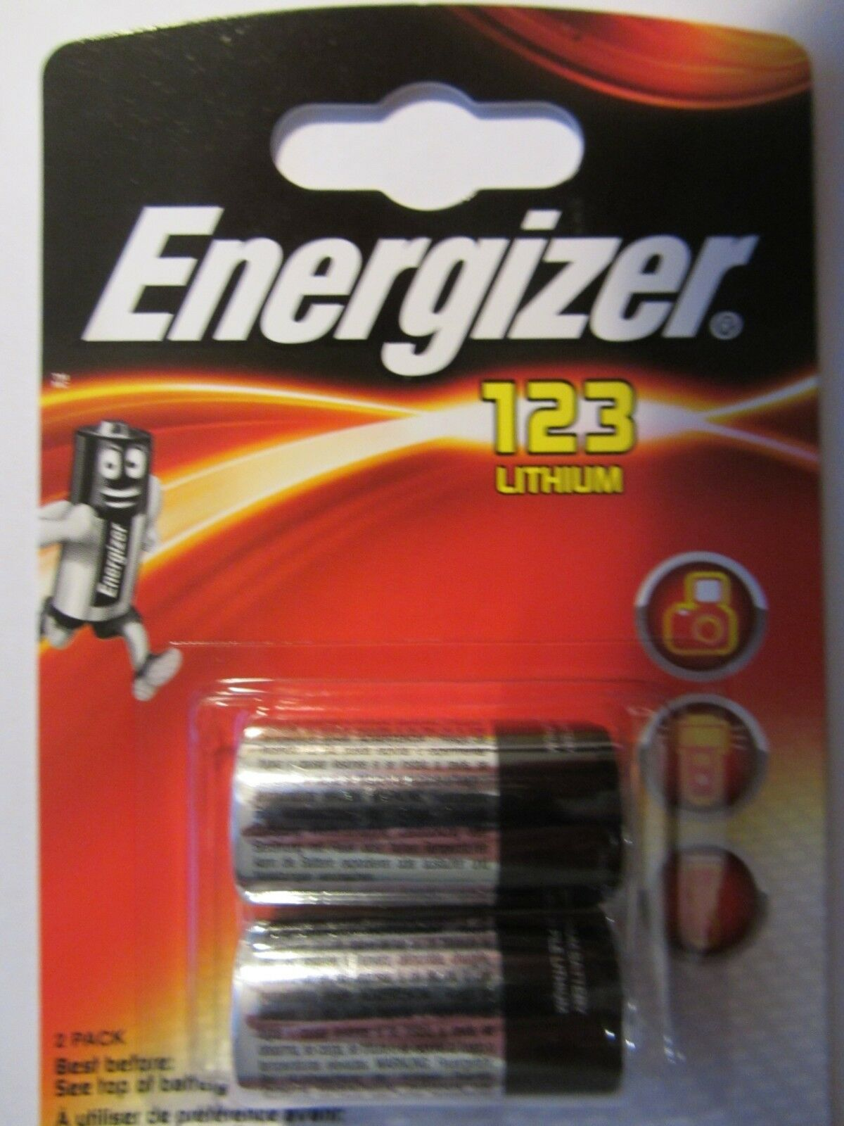 Energizer Lithium Photo CR123A DL123A CR17345 2er Blister MHD 12 2027   Modernes Design