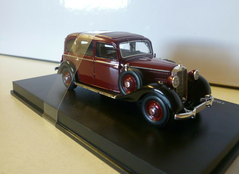 Esval-models 1936-1940 MERCEDES 260d pullman LANDAULET 1/43 Nero/Maroon