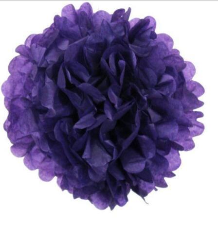 """6/"""" Papier Tissu Pompons Fleur Boules mariage décoration Party 12//pk"""