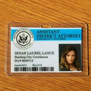 Pfeil-Id-Abzeichen-Assistant-da-Dinah-Laurel-Lance-Cosplay-Requisite-Kostuem