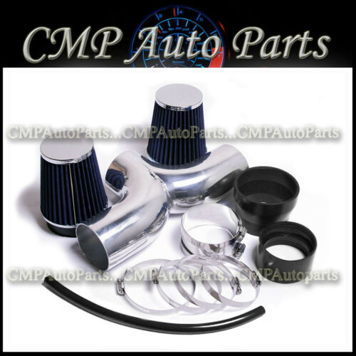 BLACK BLUE DUAL AIR INTAKE KIT FIT 2001-2004 CHEVY CORVETTE C5 5.7 5.7L V8