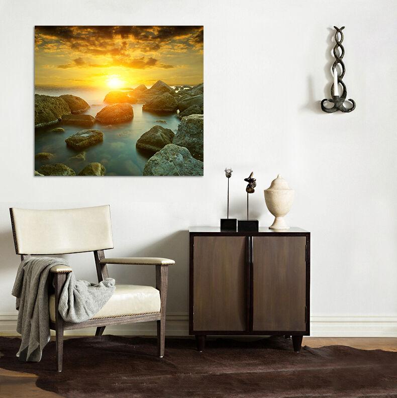 3D Helle Sonne Stein Meer 864  Fototapeten Wandbild BildTapete AJSTORE DE Lemon