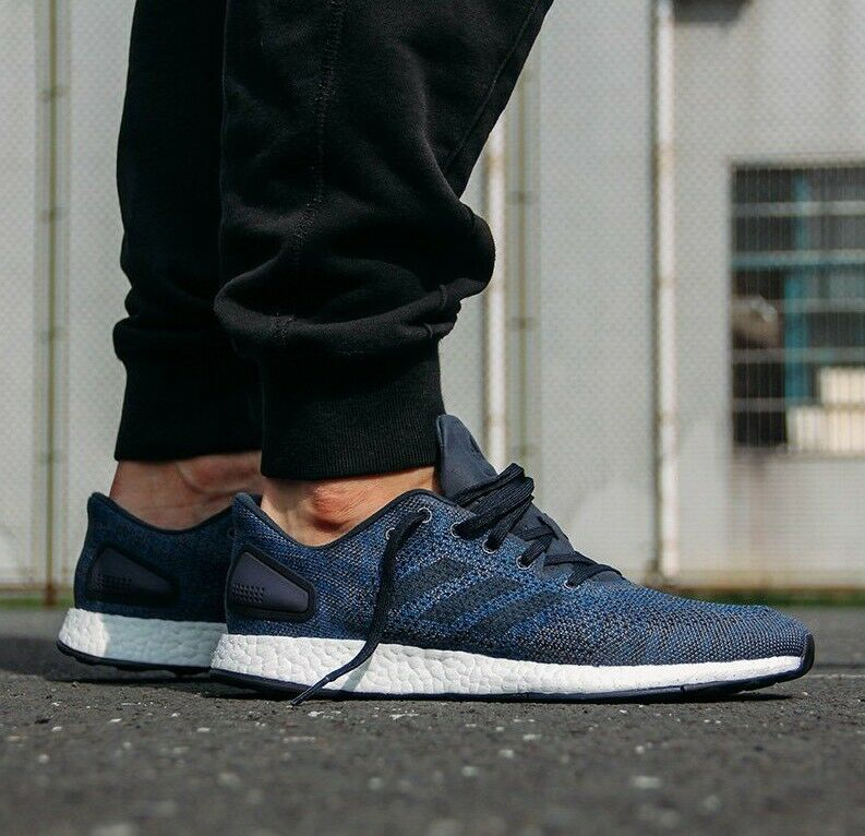 Adidas Pureboost Men's Running Knit Authentic Blue Wh