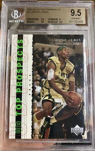 2003-Upper-Deck-Lebron-JAMES-Rookie-card-GEM-Mint-9-5-BGS-10-Sub-Top-Prospect-P3