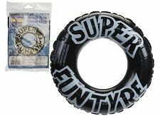 """36"""" Inflatable Black Tyre / Tire Rubber Ring - Swimming Pool Float Lilo"""