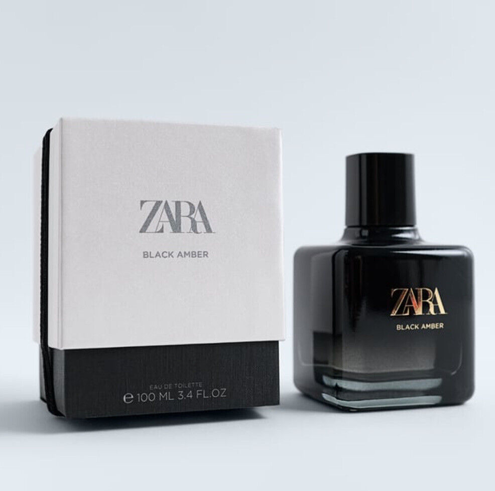 Zara Woman Black Amber EDT 100 ML Eau De Toilette Brand New Sealed Free Post