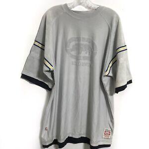 KNIT-Ecko-Unltd-Men-039-s-Gray-Hemmed-Up-Jersey-Tee-T-Shirt-XLarge-Short-Sleeve