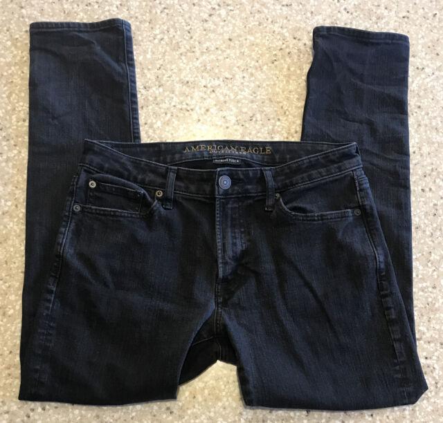 American Eagle Extreme Flex 4 Men's Slim Fit Black Denim Jeans Size 31x30