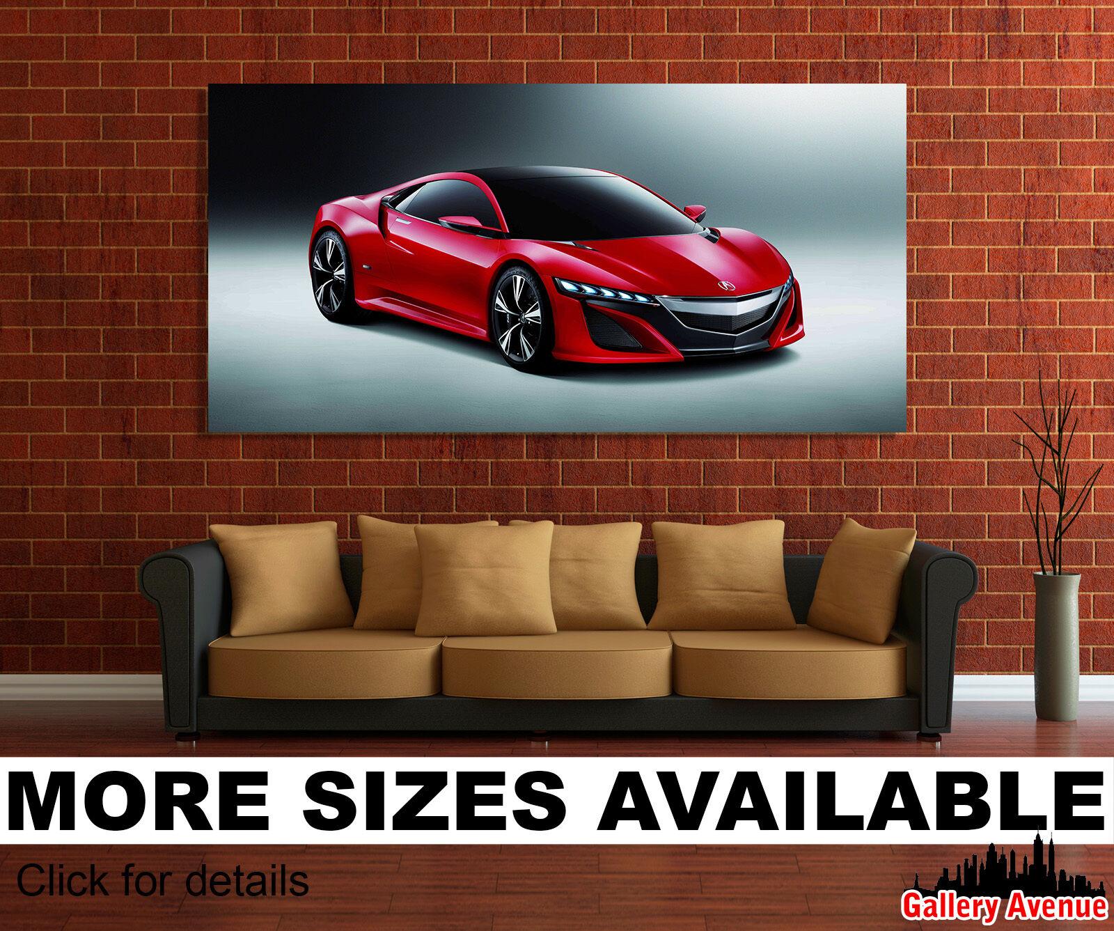 Wall Art Canvas Picture Print - Acura NSX, Super Sport Car 2.1