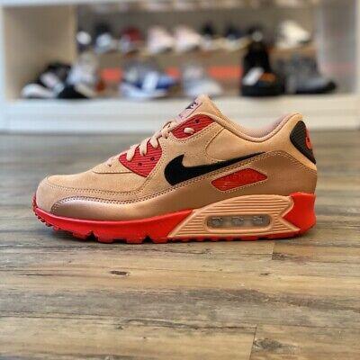 Nike Air Max 90 Leder ID Gr.42,5 Sneaker Schuhe braun BQ8747