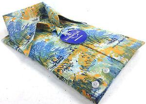 Tropical-Disco-Leisure-Long-Sleeve-Dress-Shirt-XS-S-Original-Pack-Vintage-1970s