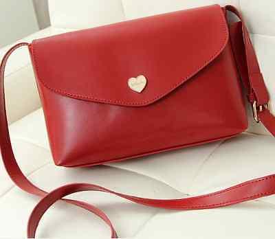 Umhängetasche Herz mittel rot blau weiß schwarz Tasche PU Leder Handtasche klein