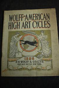 1896 *ORIGINAL* Wolff American High Art Bicycles Catalog