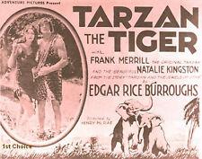 Tarzan the Tiger -  Silent Film - Cliffhanger Movie Serial DVD Frank Merrill