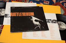 U2 2LP RATTLE AND HUM 1°ST ORIG ITALY GATEFOLD COVER ED INNER TESTI