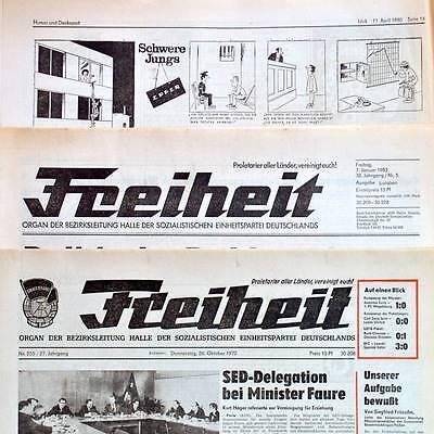 """DDR """"Freiheit"""" Juli 1977 Geburtstag Hochzeit 37. 38. 39. 40. 41. 42. Auswahl SED"""
