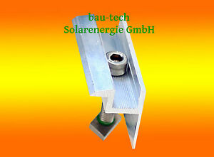 Befestigungsmittel 10x Universal Mittelklemmen Für Module Ab 31mm Pv Photovoltaik Mittelklemme Heimwerker