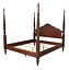 ethan allen british classics king montego 4 poster bed maple #29-5650-6 #260