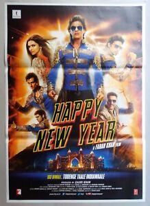 New Bollywood Movie Poster Happy New Year Shah Rukh Khan Deepika 2014 2 Ebay
