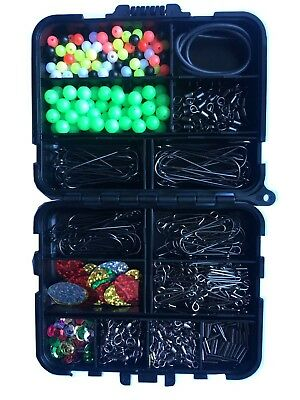 Bait elastic Sea  fishing Kit make 50 Rigs fishing swivels beads hooks