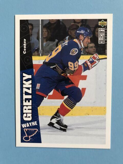 Wayne Gretzky Collectors Choice 1996 PROMO Hockey Card #222 St Louis Blues