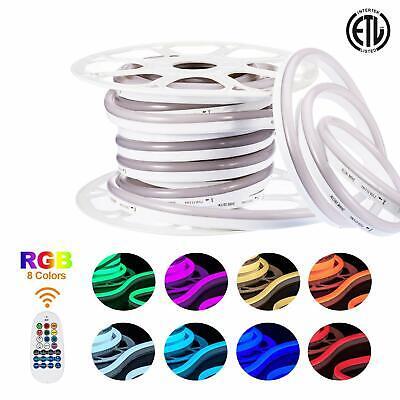 ETL 82ft,25m 110V Led RGB Strip Light SMD 5050 Multi Color Change with Remote