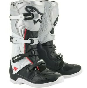 Alpinestars Tech 5 MX Boots Adult Motocross Sole White Black 8