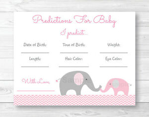 It's just a photo of Obsessed Baby Prediction Cards Free Printable