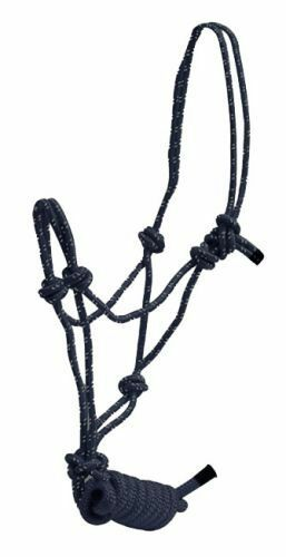Pony Size Braided Nylon Knotted Rope Halter with Lead
