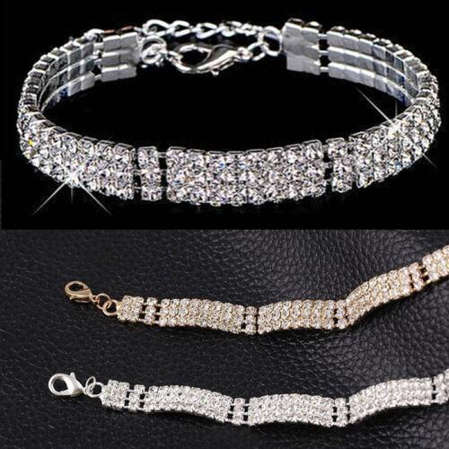 Frauen edle Kristall Armband Multi-Kette Strass Armbänder Armreifen Schmuck