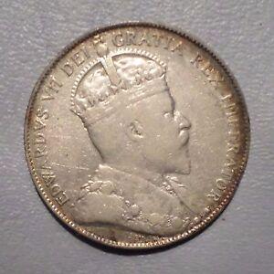 Canada Coin 50 Cents 1906 Vf Ebay