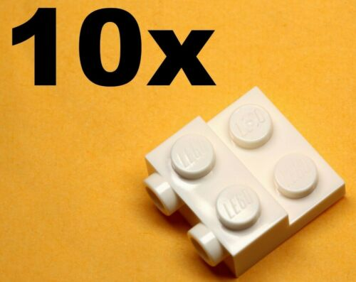NEW LEGO 2 x 2 x 2//3 with 2 Studs on Side White x10 Modified PLATES