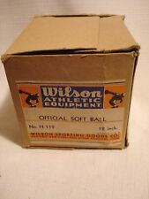 "Vintage..."" Wilson "" Official...Softball...12""..U.S.A."
