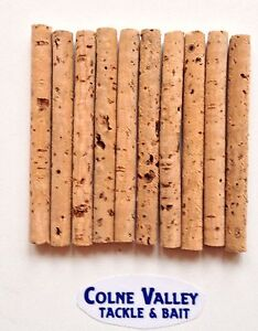 Cork Sticks Inserts 10 X 8mm wide 65mm Long strong and Buoyant