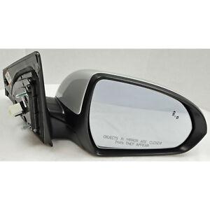 Factory Side View Door Mirror Blind Spot Sensor RH Right Silver For Kia Cadenza