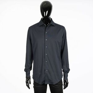LORO PIANA 835$ Capri Shirt In Dark Gray Cotton Jersey