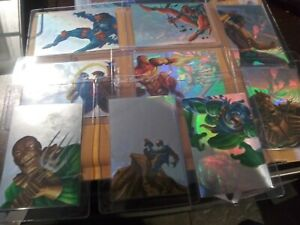 1995-MARVEL-FLAIR-ANNUAL-HOLOBLAST-9-CARDS-OUT-12-CARD-FOR-SET-INSERT-HOLOGRAM