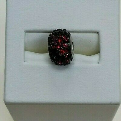 Chamilia Jewelry Charm Jeweled Kaleidoscope Red Black Swarovski Sterling Bead