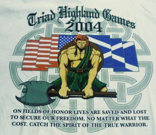 XL T-Shirt North Carolina Scottish Adult Official 2004 Triad Highland Games