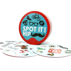"NEW card game ""spot it hip"" for adult: home + party board game"