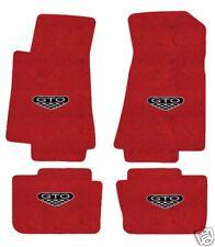 Pontiac GTO Floor Mat Set Red 4 Peice  2005, 2006 with GTO Logo