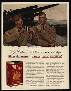 Merchandise & Memorabilia Responsible Original 1941 Print Ad Pall Mall Cigarettes John Falter Army Artillery Wwii Buy One Give One